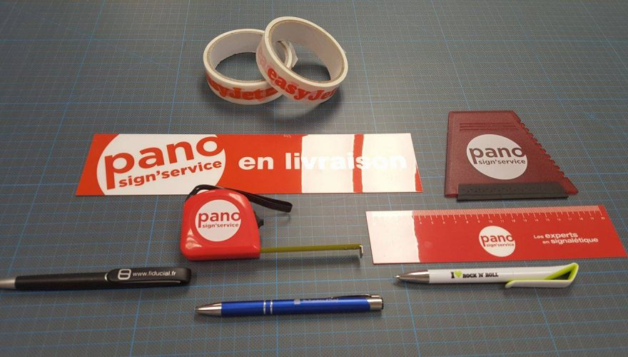 Rubalise adhésif règle mètre stylo personnalisé