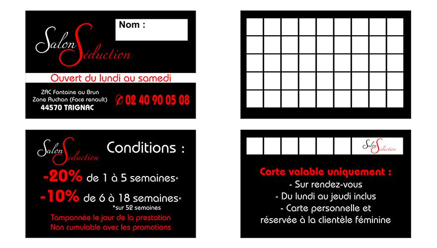 Visite Recto Verso Carte Fidlit 2 Volets