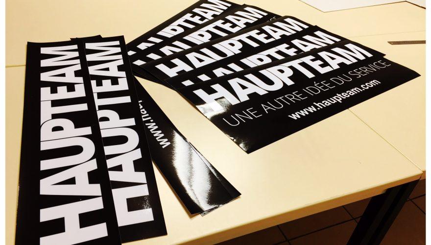 Sticker black font